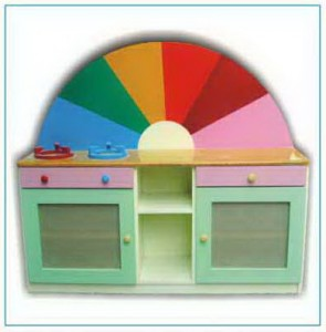 Tủ bếp hình cầu vồng  B406