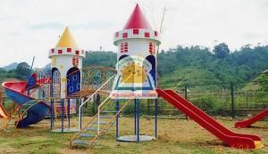 Khu vui chơi liên hoàn 2 khối hình lâu đài – A114