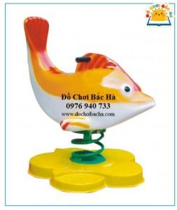 Thú nhún lò xo hình con cá heo A428