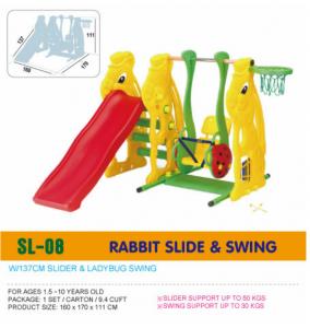 Cầu trượt xích đu thỏ D321